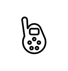 baby monitor thin line icon outline symbol vector image vector image