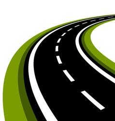 curved asphalt road vector image vector image