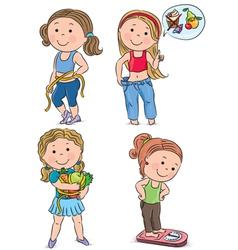 Diet kids vector image vector image
