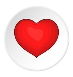Heart icon cartoon style vector image