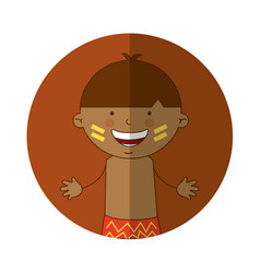 indian cute boy character vector image vector image