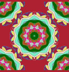 mandala tribal vintage sketch with a medallion on vector image vector image