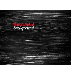 Painted black background vector image vector image
