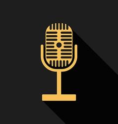 Retro vintage microphone radio flat design vector image