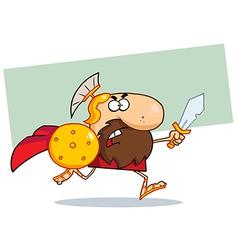 Roman soldier cartoon vector image vector image