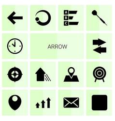 14 arrow icons vector