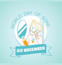 20 november world day of sons vector image
