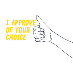 A hand gesture approval and consent persons vector