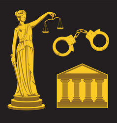 A woman justice themis holding scales and a vector