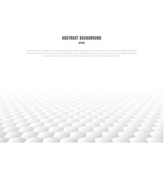 Abstract white hexagons pattern perspective vector