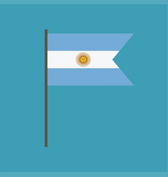 argentina flag icon in flat design vector image
