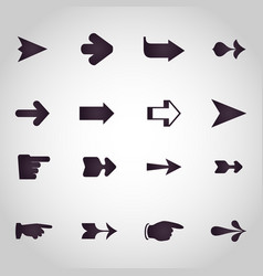 arrows logo design icon set vector image
