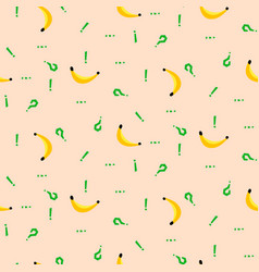 banana and punctuation marks simple vetor seamless vector image