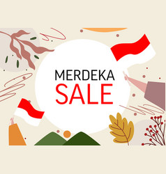 Banner for merdeka august indonesia independence vector