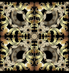 baroque ornate seamless pattern vector image