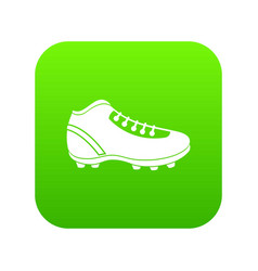 Baseball cleat icon digital green vector