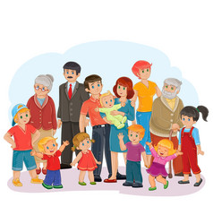 Big happy family - great-grandfather great vector