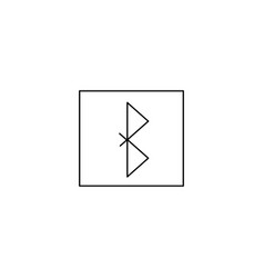 Bluetooth icon simple logo of bluetooth sign on vector