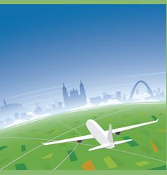 bogota skyline flight destination vector image
