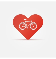 Bright I love my bike icon vector image