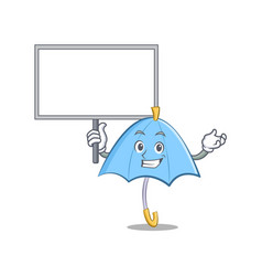 bring board blue umbrella character cartoon vector image