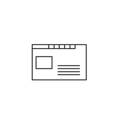 browser tabs icon vector image