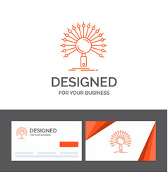 Business logo template for data information vector