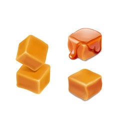 caramel candies 3d isolated vector image