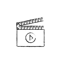 Cinema clapboard equipment vector