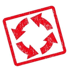 Circulation Icon Rubber Stamp vector