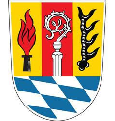 Coat of arms of eichstatt in upper bavaria in vector