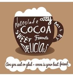 Cocoa vintage card vector