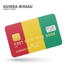 Credit card with Guinea-Bissau flag background for vector