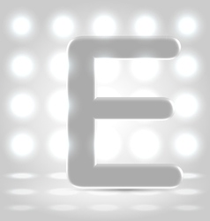 E over lighted background vector