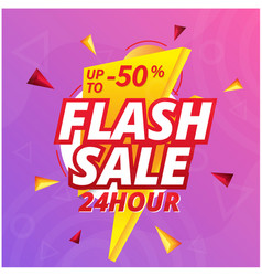Flash sale 24 hour up to 50 off bolt background v vector