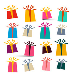 Gift boxes isolated on white background colorful vector