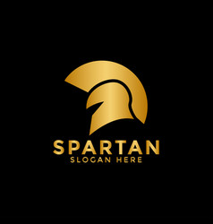 golden spartan logo icon design template vector image