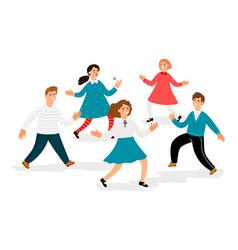 happy children characters cute school kids vector image