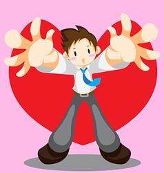 Hug me vector image