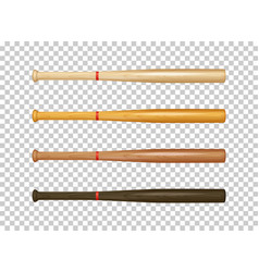 Illistration of realistic wooden baseball bat icon vector