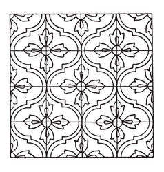 Indian enamel pattern are filled with pulverized vector
