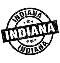 Indiana black round grunge stamp vector