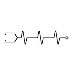 isolated stethoscope icon vector image