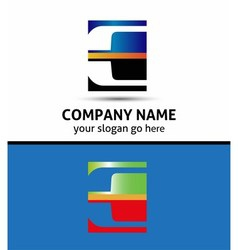 Letter E logo symbol vector image