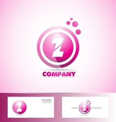 Letter Z pink sphere circle logo icon vector