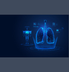 lungs x-ray vector image