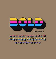 Modern bold typeface font design alphabet letters vector