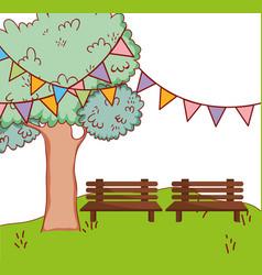 park setting cartoon vector image