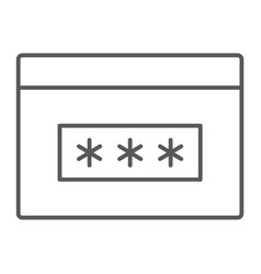 Password thin line icon security and access vector