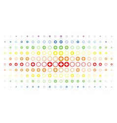 Pharmacy spectrum halftone effect vector